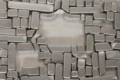 Pedazos de piezas metálicas Imagen de archivo