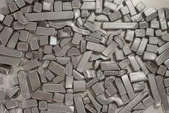 Pedazos de piezas metálicas Foto de archivo