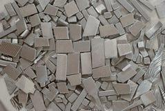 Pedazos de piezas metálicas Foto de archivo libre de regalías