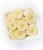 Pedazos de plátano Fotos de archivo