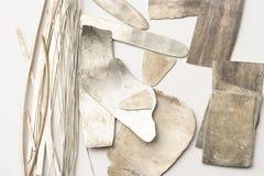 Pedazos de plata Imagenes de archivo