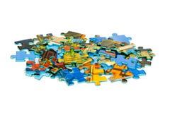 Pedazos de rompecabezas imágenes de archivo libres de regalías