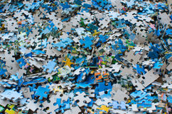 Pedazos de rompecabezas Imagen de archivo libre de regalías