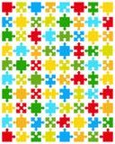 pedazos de rompecabezas colorido Imágenes de archivo libres de regalías