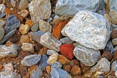 Pedazos de textura de piedra de los escombros de la roca - imagen común fotografía de archivo