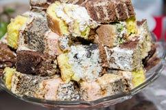 Pedazos de torta Imagen de archivo