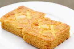 Pedazos de torta de la mantequilla Imágenes de archivo libres de regalías