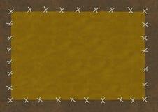 Pedazos de un cuero, adaptados por las cuerdas de rosca Foto de archivo libre de regalías