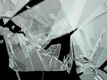 Pedazos de vidrio demolido o roto stock de ilustración