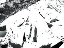 Pedazos de vidrio demolido o roto imágenes de archivo libres de regalías