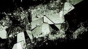 Pedazos de vidrio quebrado o demolido en negro ilustración del vector