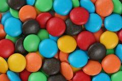 Pedazos del caramelo de chocolate Fotografía de archivo