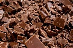 Pedazos del chocolate (1) Imágenes de archivo libres de regalías