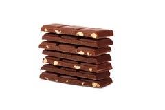 Pedazos del chocolate fotografía de archivo libre de regalías