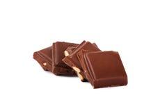 Pedazos del chocolate foto de archivo libre de regalías