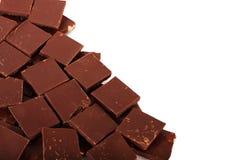 Pedazos del chocolate fotos de archivo