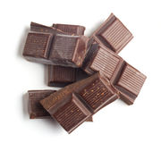 Pedazos del chocolate Imagenes de archivo