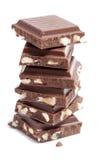 Pedazos del chocolate Fotos de archivo libres de regalías