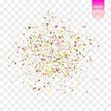 Pedazos del confeti del vector Imagenes de archivo
