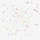 Pedazos del confeti del vector Imágenes de archivo libres de regalías