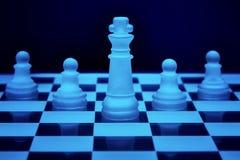 Pedazos del juego de ajedrez fotos de archivo libres de regalías