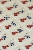 Pedazos del juego del Mah Jong imagenes de archivo