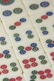 Pedazos del juego del Mah Jong Imágenes de archivo libres de regalías