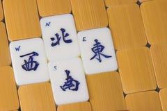 Pedazos del juego del Mah Jong Imagen de archivo libre de regalías