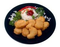 Pedazos del menú del pollo Fotos de archivo libres de regalías