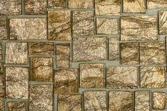 Pedazos del mosaico de espejo quebrado Fotos de archivo
