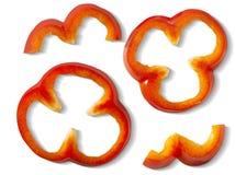 Pedazos del paprika Imagenes de archivo