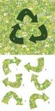 Pedazos del partido de la ecología, juego visual ¡Solución en capa ocultada! Imagen de archivo