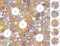 Pedazos del partido, juego visual Fotos de archivo