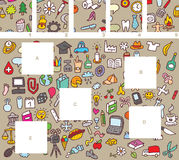 Pedazos del partido, juego visual ilustración del vector