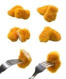 Pedazos del pollo Foto de archivo libre de regalías