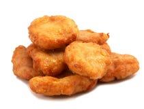 Pedazos del pollo frito Fotografía de archivo