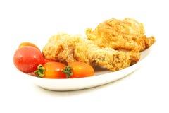Pedazos del pollo frito fotos de archivo libres de regalías