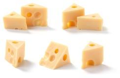 Pedazos del queso Foto de archivo