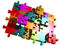 Pedazos del rompecabezas Imagen de archivo libre de regalías