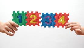 Pedazos del rompecabezas de Imagen de archivo libre de regalías