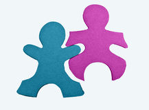 Pedazos del rompecabezas de gente abstracta aislada Imagen de archivo libre de regalías