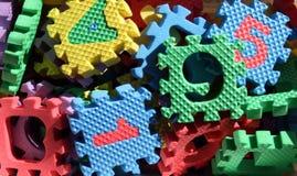 Pedazos del rompecabezas de la espuma Imagen de archivo libre de regalías