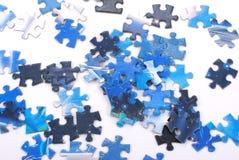 Pedazos del rompecabezas de rompecabezas Imagen de archivo libre de regalías