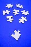 Pedazos del rompecabezas de rompecabezas Fotografía de archivo