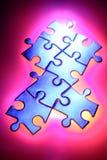 Pedazos del rompecabezas de rompecabezas Foto de archivo