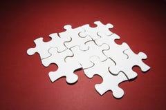 Pedazos del rompecabezas de rompecabezas Imagen de archivo