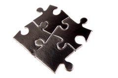 Pedazos del rompecabezas de rompecabezas Fotos de archivo libres de regalías