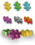 Pedazos del rompecabezas del autismo Imagen de archivo libre de regalías