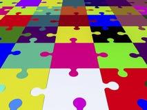 Pedazos del rompecabezas en diversos colores Imagenes de archivo