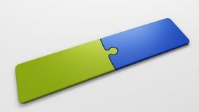 Pedazos del rompecabezas para poner conceptos Fotografía de archivo libre de regalías